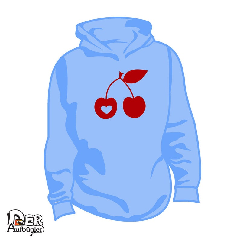 Cherries ironing pattern cherry with heart in 49 colors