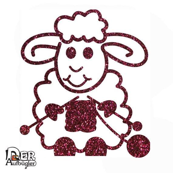 weiß Aufnäher // Bügelbild verschiedene Größen Set Schaf