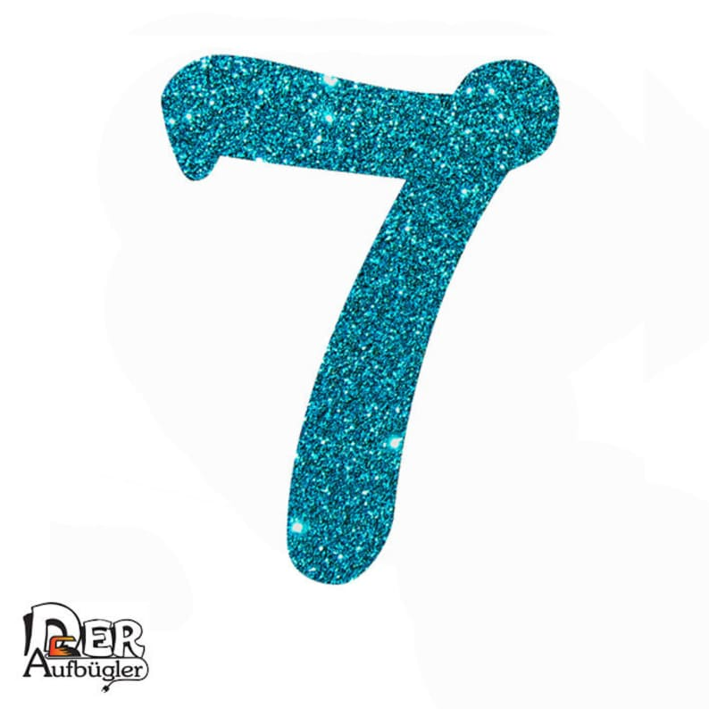 d3a65d2024c Glitter ironing image number seven birthday number 7 in 24