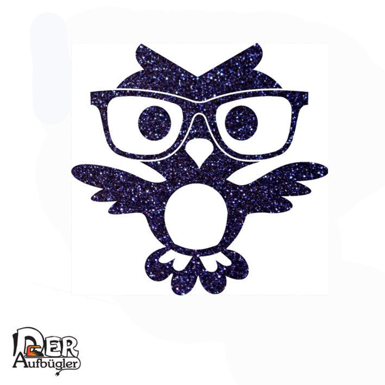 a3afbb68a05 Glittering frame owl with glasses in 24 colors