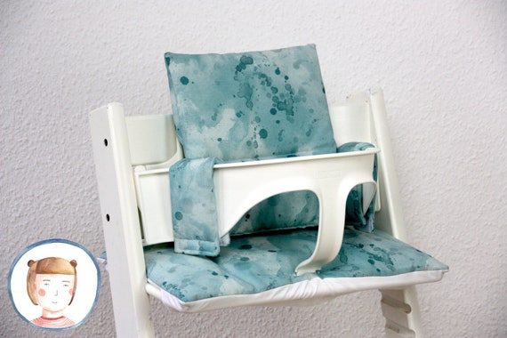 Kussen Tripp Trapp : Coated tripp trapp seat cushion in watercolor look washable etsy
