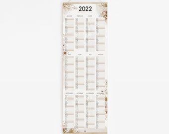 Poster Calendar 2022 - GOOD THINGS are COMING - Affirmation Mom Dry Flower Calendar Poster Print Pampas Planner Annual Planner Wall Calendar