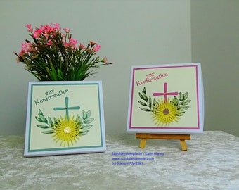 Greeting card for confirmation/communion as a cash gift incl. the same looking packaging