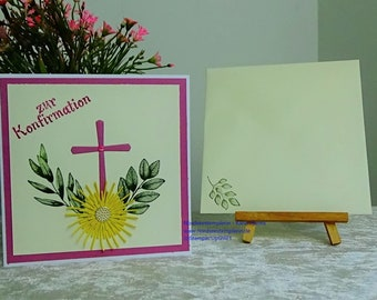 Congratulations card for confirmation or communion