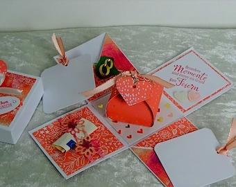 Explosion Box Wedding | Money Gift | Decorative box | DSP Motif Color of Love -White
