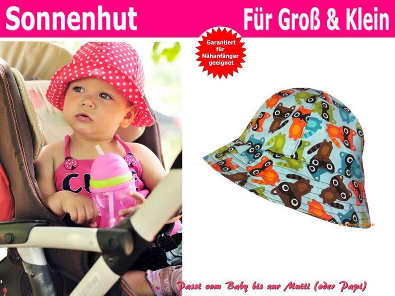 Schnittmuster Sommerhut Sonnenhut Für Babys Kinder und image 0
