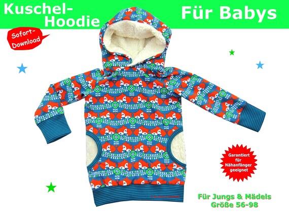 Schnittmuster Baby Pullover inkl. Nähanleitung   Etsy