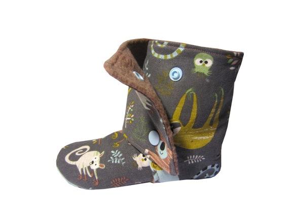 Schnittmuster Kinder Schuhe Hausschuhe inkl. Nähanleitung
