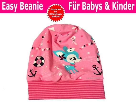 Schnittmuster Beanie für Babys & Kinder inkl. Nähanleitung | Etsy