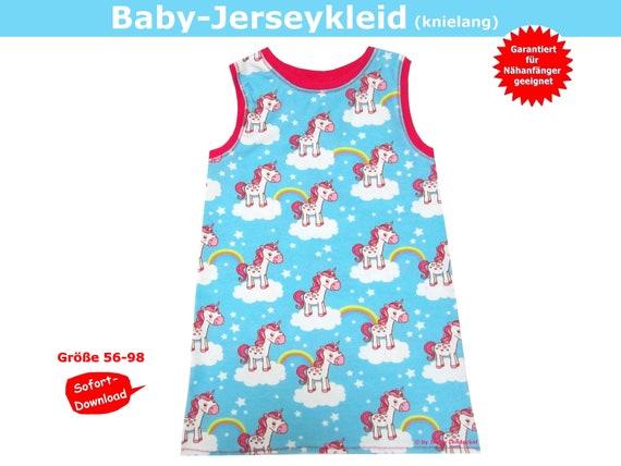 Schnittmuster Baby Kleid Jersey Babykleid Inkl Etsy