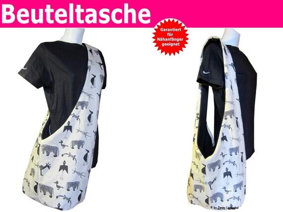 Schnittmuster Tasche Beuteltasche inkl. Nähanleitung | Etsy