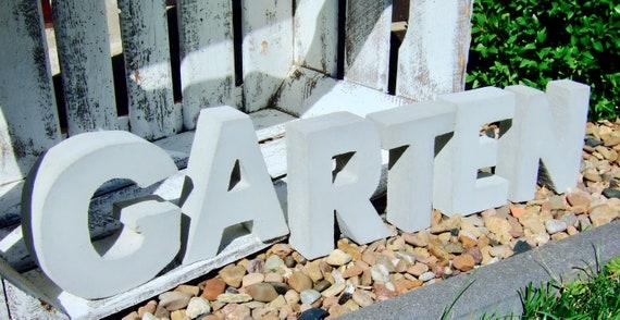 Garten Letters Concrete 12 5 Cm