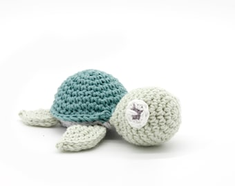 Turtle crocheted, 100% cotton, many colors, German handmade, free shipping!