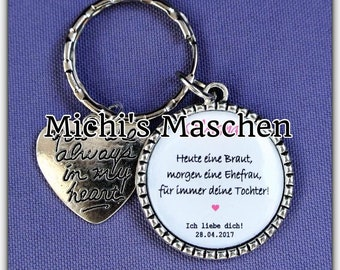personalized keychains Bride Mother 1