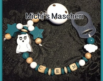 personalized pacifier chain silicone ring
