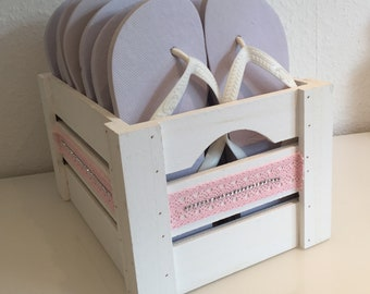 Flip flops without basket white