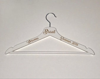 Clothes hanger personalized bridal gift
