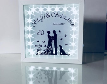 Wedding gift illuminated customizable