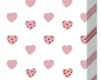 10 handkerchiefs tears of joy with rose hearts
