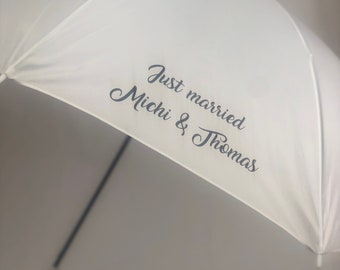 Umbrella white personalized