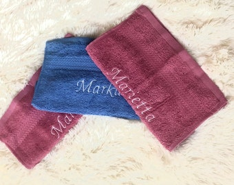 Guest towels embroidered personalized