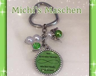 Keychain groomswoman green