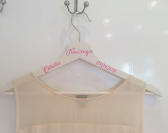 Clothes hanger personalized groomswoman gift