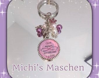 Keychain bridal sister pink