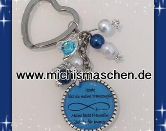 Keychain groomswoman blue
