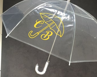 Umbrella transparently personalized