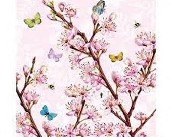 5 loose napkin Napkin Tovaglioli motif napkin Decoupage napkin technique 25 x 25 cm cherry blossom