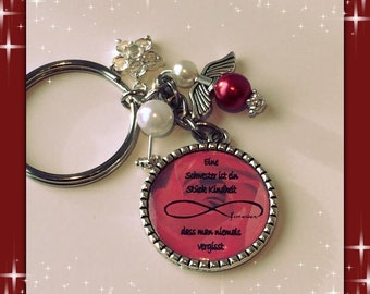 Keychain sister red