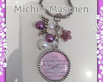 Keychain groomswoman lilac