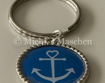 Keychain martitim with anchor