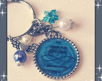Keychain Sister Blue