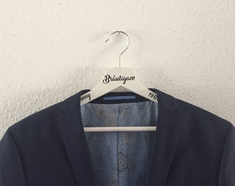 Hanger personalized groom