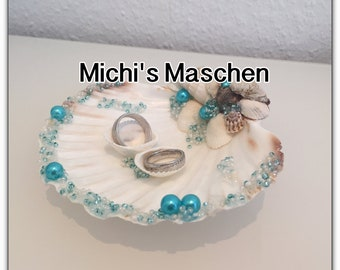 Ring pillow shell turquoise