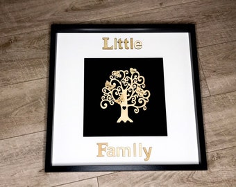 Family tree in picture frame