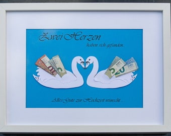 personalized money gift swans