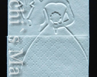 10 newlyweds handkerchiefs joy tears embossed