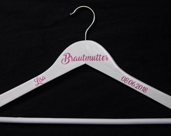 Clothes hanger personalized bridal mother gift