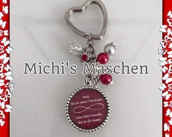 Keychain groomswoman red