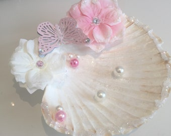 Ring pillow shell pink