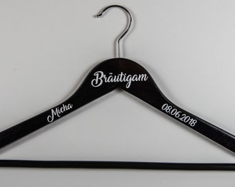 Clothes hanger personalized groom