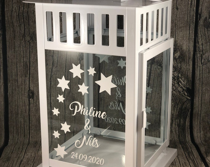Featured listing image: Gift windlight lantern personalized