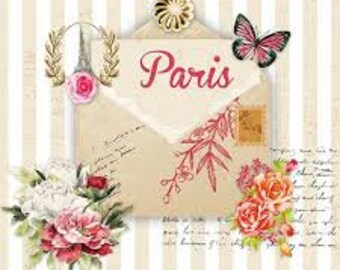 5 loose napkin Napkin Tovaglioli motif napkin Decoupage napkin technique 33 x 33 cm Paris Post