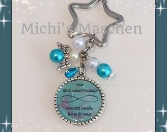 Keychain groomswoman turquoise