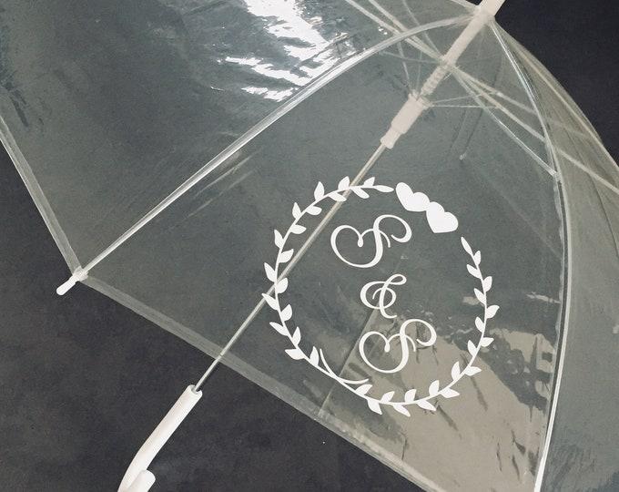 Featured listing image: Umbrella Transparent Personalized