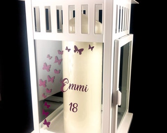 Lantern windlight personalized