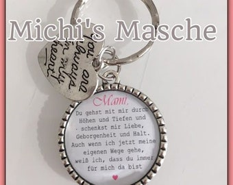 Keychain bridal mother customizable